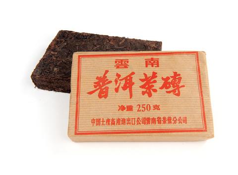 Чай Шу пуэр кирпич 250 г (г. Менхай, фаб. Мэнла  2006 г.). Интернет магазин чая