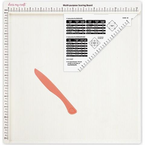 Доска для биговки, для создания конвертов, коробочек- Dress My Craft Multi-Purpose Scoring Board - 30х30 см