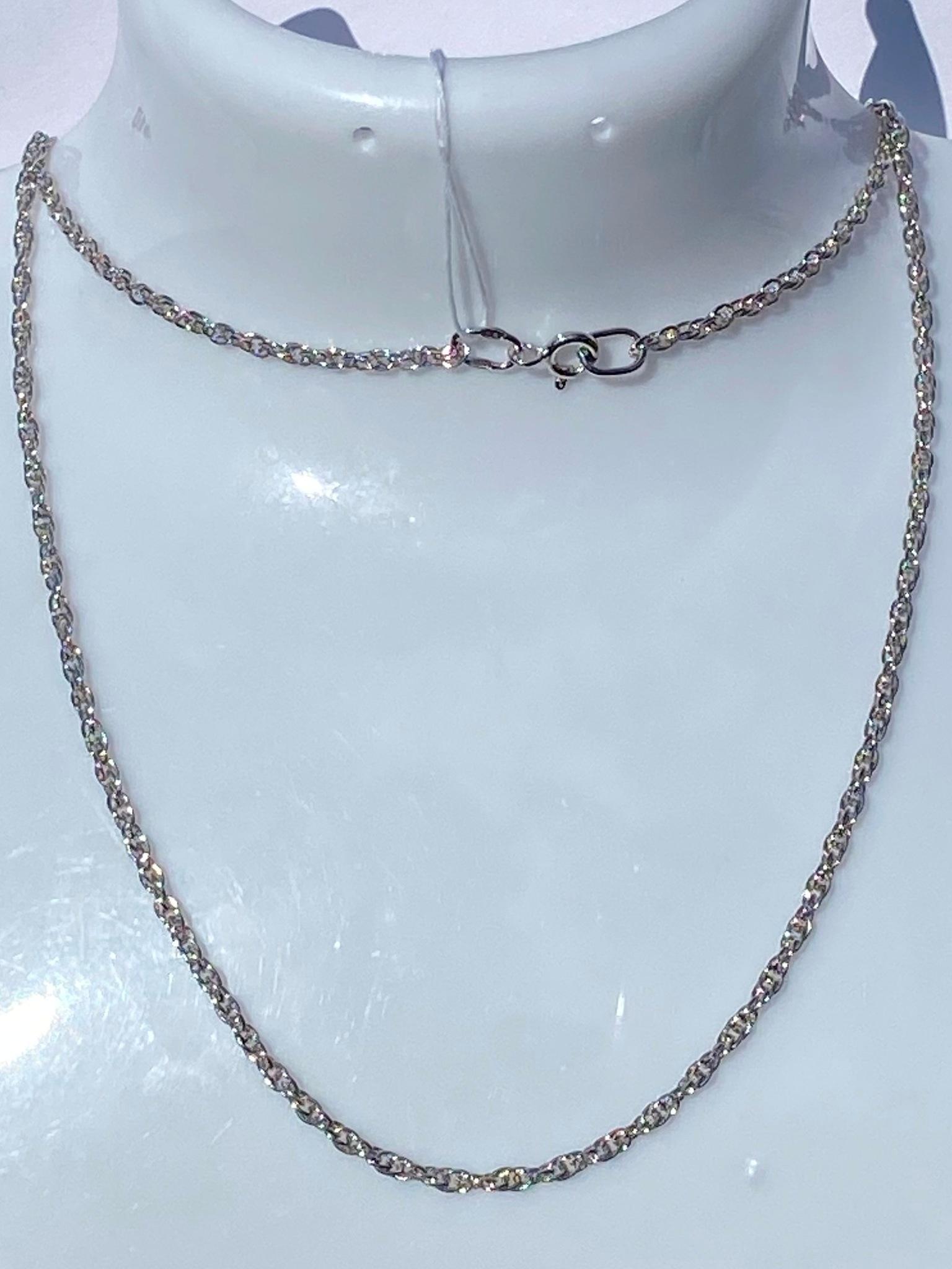Кордовая 0,15 (серебряная цепочка)
