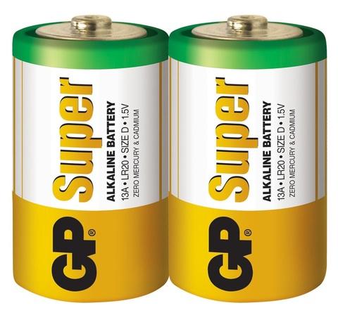 Батарейки GP 13A-S2 Alkaline LR20, D, трей 20/120