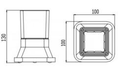 Стакан настольный KAISER Moderne KH-1135 схема