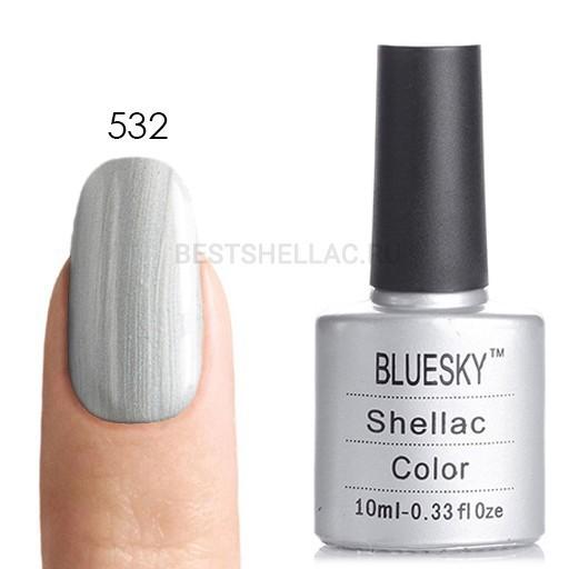 Bluesky Shellac 40501/80501 Гель-лак Bluesky № 40532/80532 Silver Chrome, 10 мл 532.jpg
