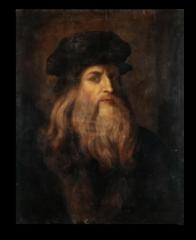 "Репродукция ""Леонардо Да Винчи - Портрет художника в зрелости"""
