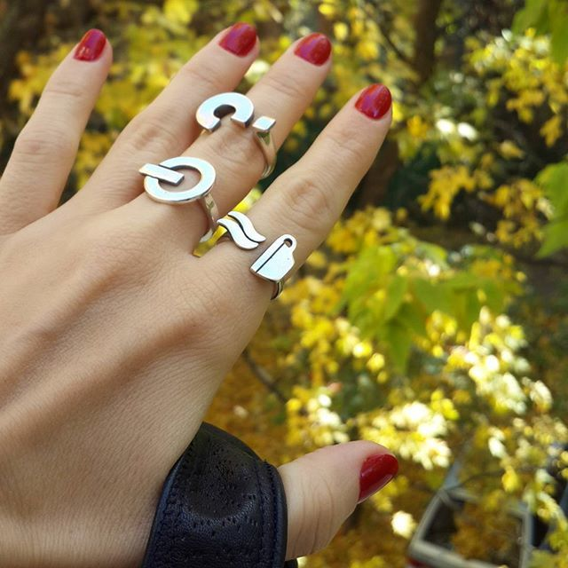 Question mark ring, Sterling Silver