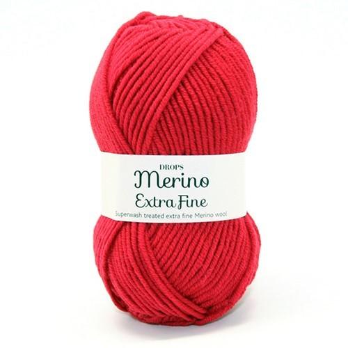 Пряжа Drops Merino Extra Fine 11 красный