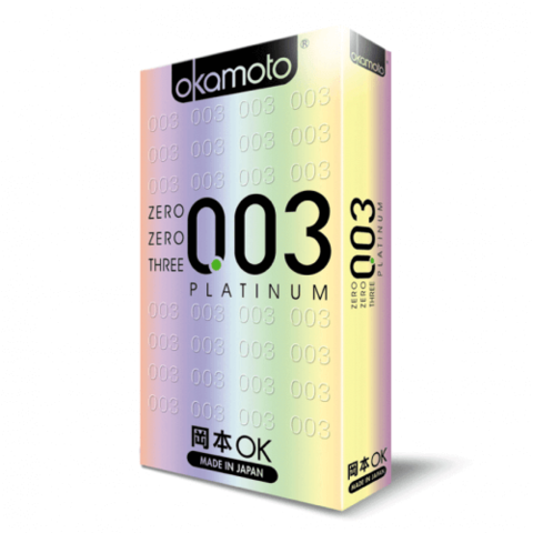Тончайшие презервативы Okamoto Platinum 0.03 мм 10 шт.