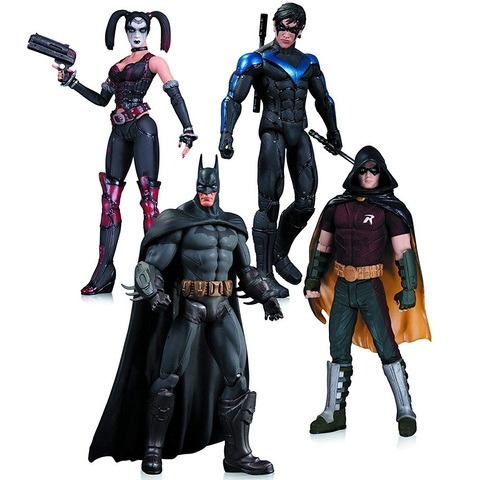 Аркхем-Сити: Харли Квин, Бэтмен, Найтвинг и Робин