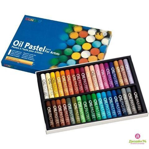 Масляная художественная пастель в наборе Mungyo 48 цветов в картонной коробке