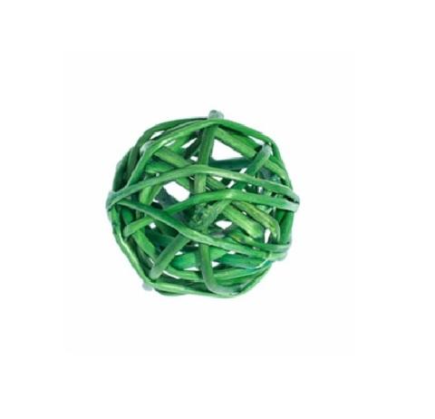 Плетеные шары из ротанга (набор:12 шт., d3см, цвет: зеленый)