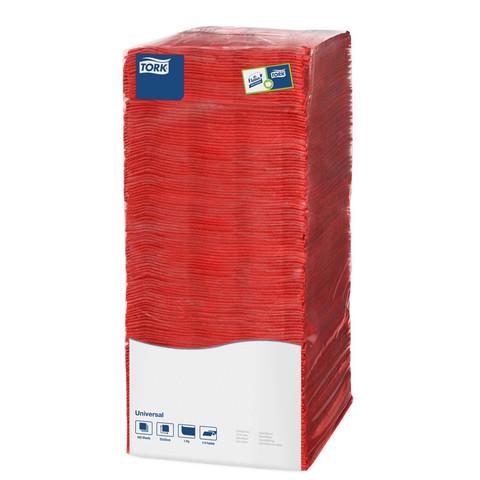 Салфетки бумажные Tork Big Pack 478661 25x25 см красные 1-слойные 500 штук в упаковке