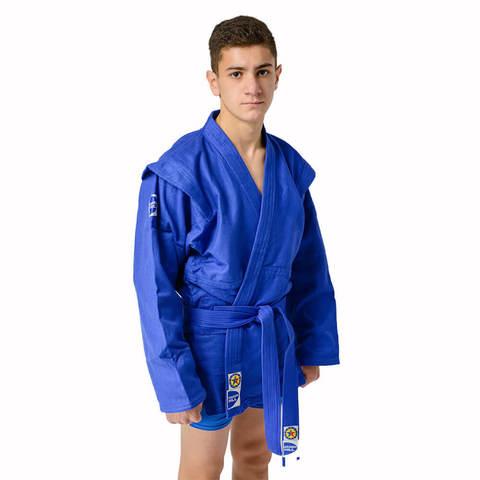 Куртка для самбо синий Junior. Green Hill