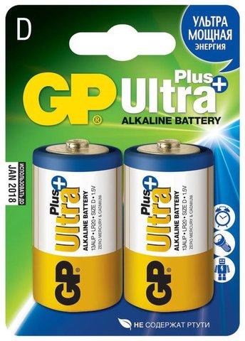 Батарейки GP 13AUP-S2 Ultra alkaline PLUS LR20, D,трей 2/20/