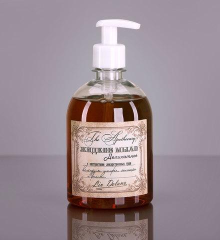 Liv delano The Apothecary Жидкое мыло деликатное с экстрактами лекарственных трав календулы, шалфея, эхинацеи и фиалки 480г