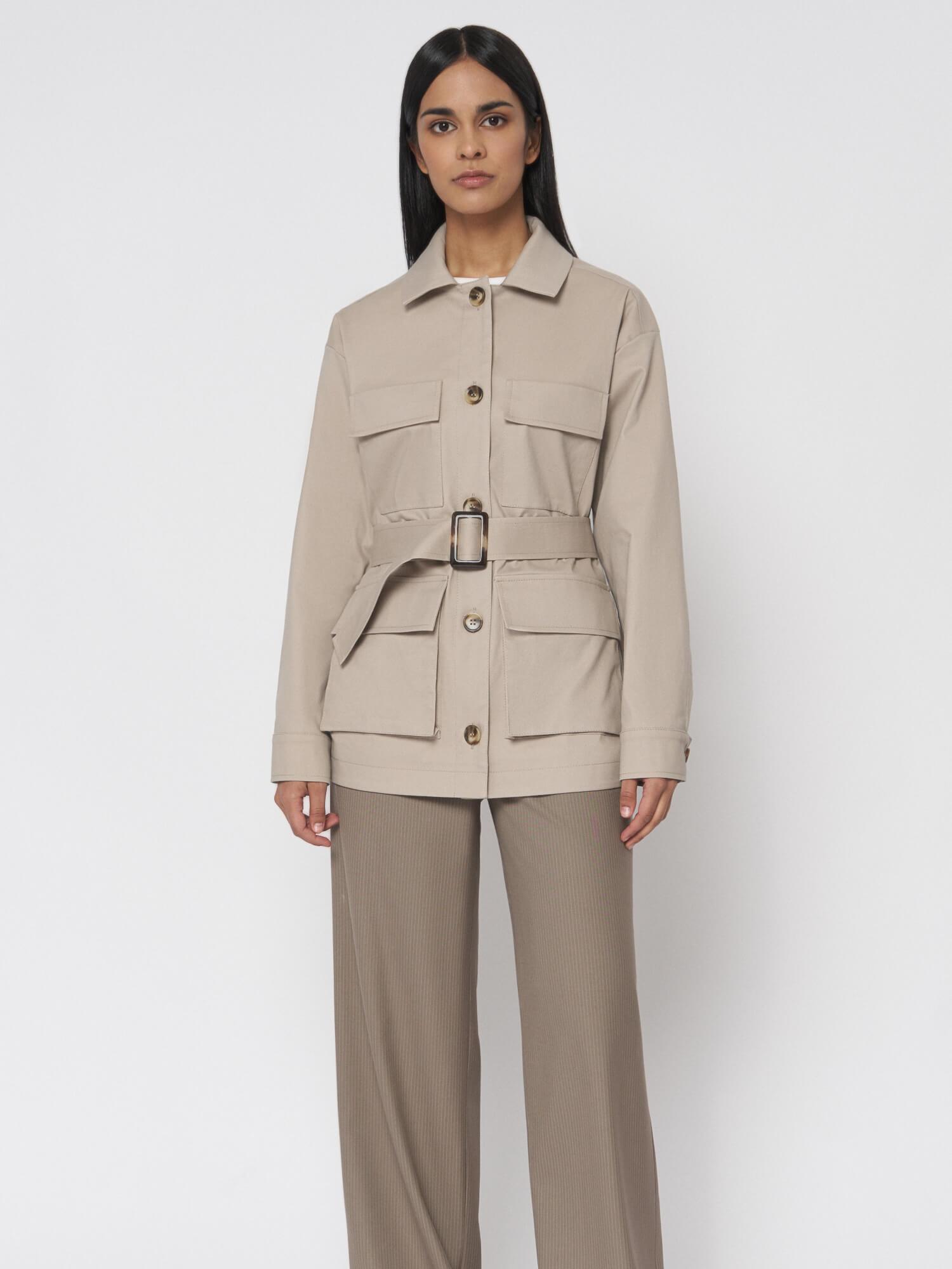 Куртка  Кейптаун с карманами и поясом