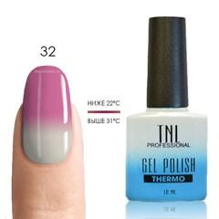 TNL, Термо гель-лак № 32 - молочно-розовый/белый, 10 мл