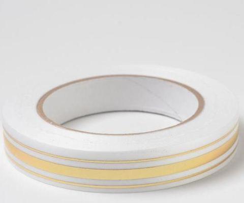 Лента золотая полоса BL (размер: 2 см х 50 ярдов) Цвет: белый