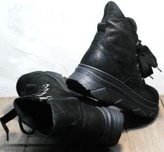 Сникерсы ботинки женские осень весна Rifellini Rovigo 525 Black.