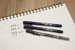 Ручка Tombow Fudenosuke GCD-112 (гибкий наконечник, черные чернила)