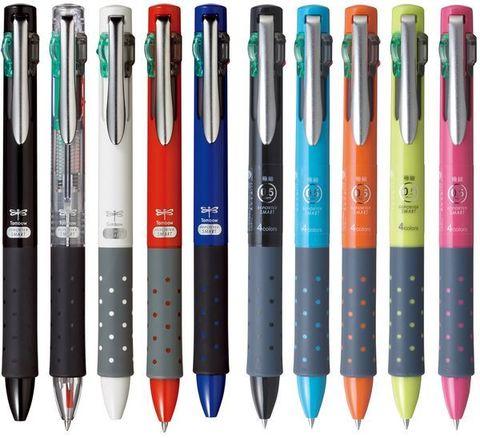 Набор из 4х-цветных шариковых ручек Tombow Reporter Smart 4 colors, 24 шт с дисплеем