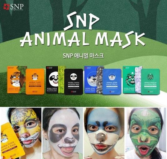 SNP Animal Tiger Wrinkle Mask - Помогает восстановлению эластичности и упругости кожи, предотвращение появления ранних признаков старения