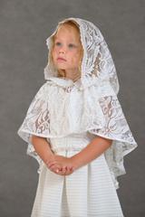 Неспадающий платок в церковь детский Лотос