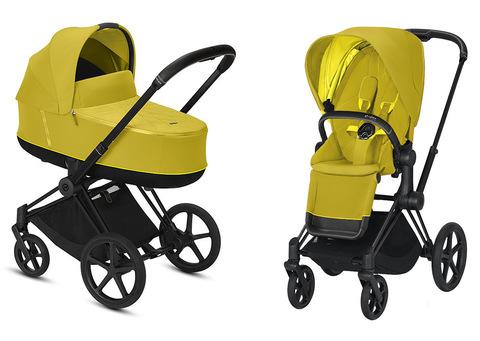 Детская коляска Cybex Priam III 2 в 1 Mustard Yellow Matt Black