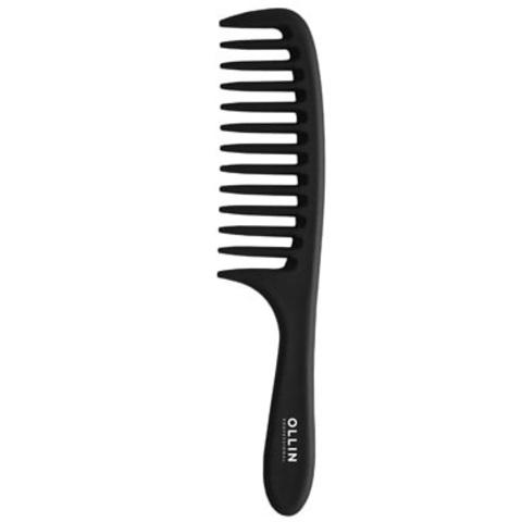 Расчёска-гребень с крупными зубцами и ручкой, прямая