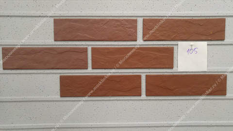 Cerrad Burgund, rustiko, new, 245x65x6.5 - Клинкерная плитка для фасада и внутренней отделки
