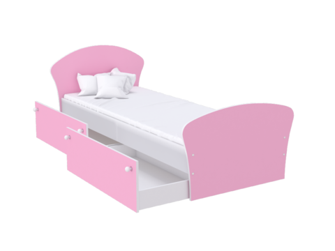 ЛДСП (Белый/Розовый)