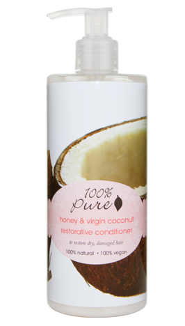 Кондиционер тонизирующий Мед и Молодой Кокос, 100% Pure