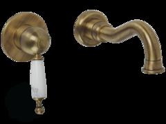 Смеситель для раковины настенный Migliore Oxford ML.OXF-6345.BI.BR бронза
