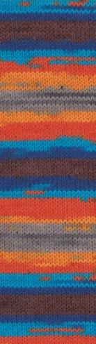 Alize Superwash 4657 сине-оранжевый