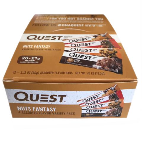 НАБОР Ореховый батончики и печенье, 60гр (12шт), Quest Hero и Cookie