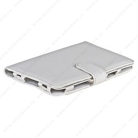 Чехол-книжка для Samsung Galaxy Tab 7.0 Plus P6200/ P6210 белый с заклепкой