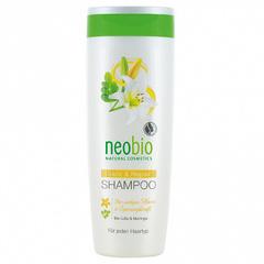 Neobio, Шампунь для восстановления и блеска волос с био-лилией и морингой, 250мл