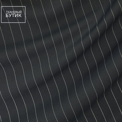 Полушерстяная костюмная ткань в тонкую полоску
