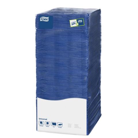 Салфетки бумажные Tork Big Pack 478667 25x25 см синие 1-слойные 500 штук в упаковке