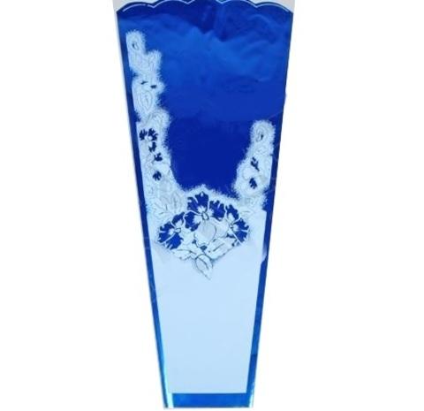Конус Супер цветной/мет/рис 36/80 (упаковка-50 шт.) Цвет:синий
