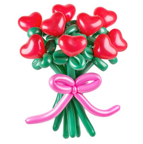 цветы из шаров , шарики цветы,