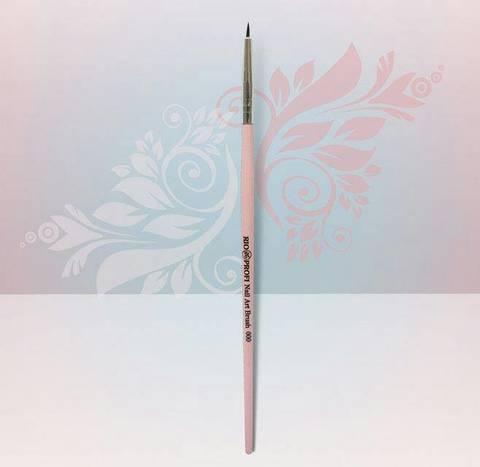 Rio Profi Кисть для дизайна тонкая розовая в тубе №000