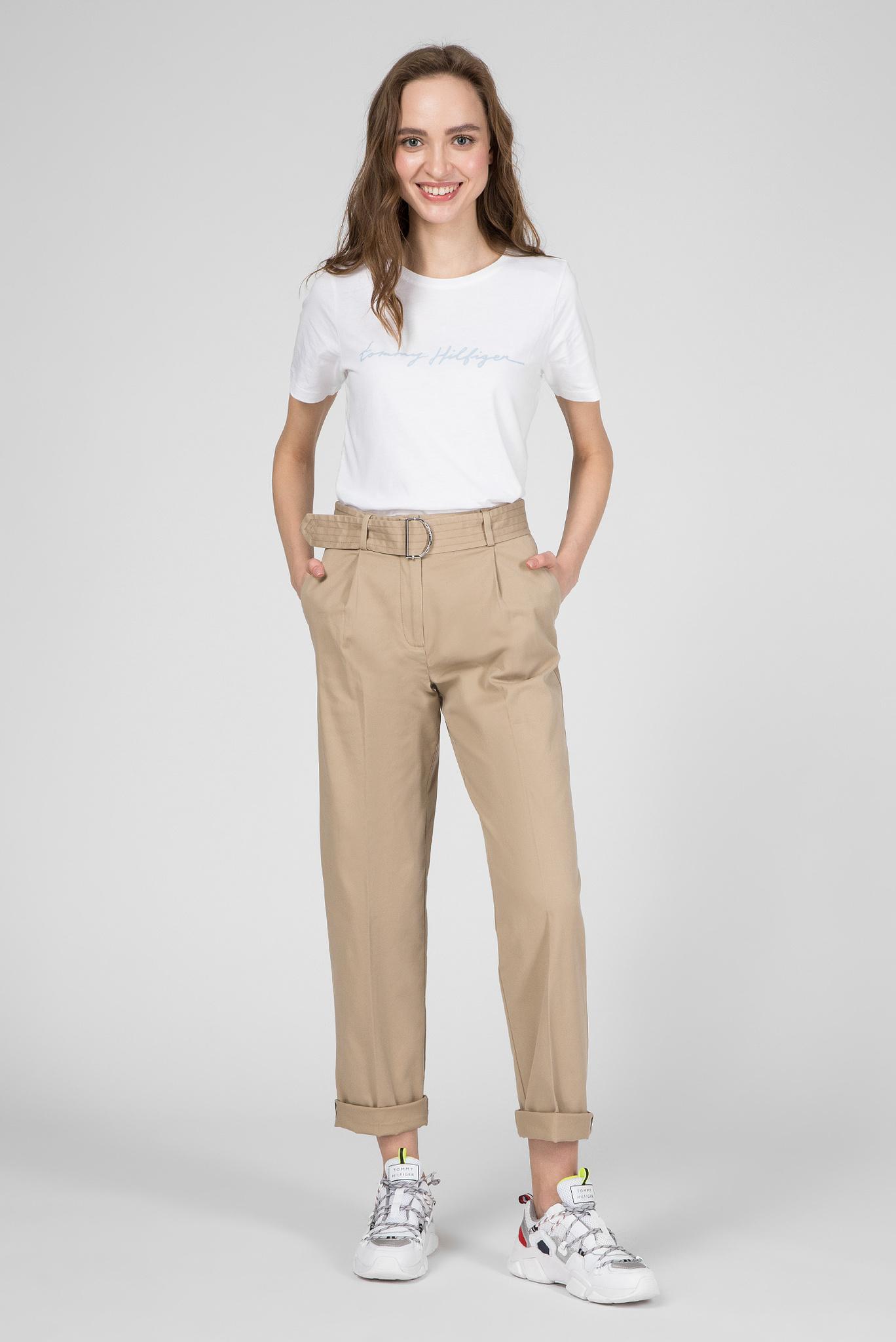 Женская белая футболка ALISSA REGULAR Tommy Hilfiger