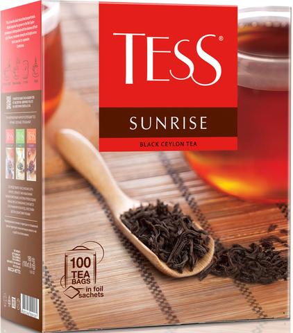 """Чай черный """"Tess"""" Санрайз  100*1,8 г"""