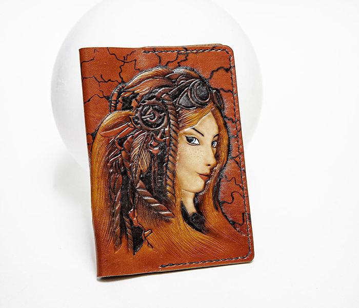 Boroda Design, Прикольная обложка на паспорт в девушкой «Стим Панк»