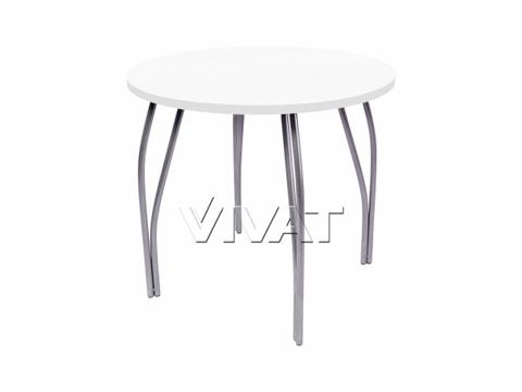 Стол обеденный круглый LС (OC-11) Белое дерево