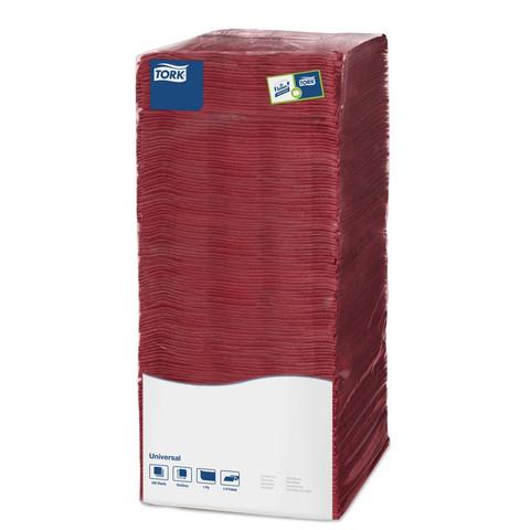 Салфетки бумажные Tork Big Pack 478669 25x25 см бордовые 1-слойные 500 штук в упаковке