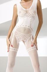 Бодистокинг с рисунком нижнего белья (052) белый