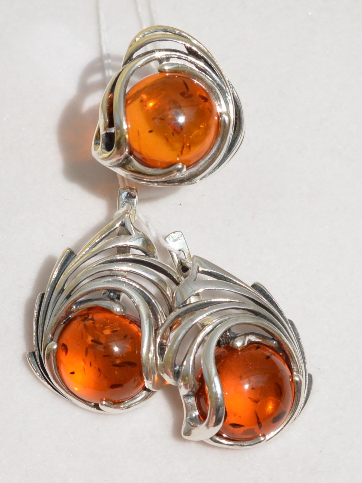 Гелия (кольцо + серьги из серебра)