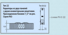 Радиатор Kermi FKO 22 300х1300