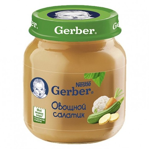 Gerber® Овощное пюре Овощной салатик 130 гр