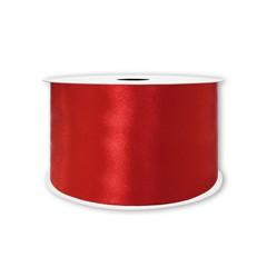 Лента атласная Красный, 50 мм * 22,85 м.